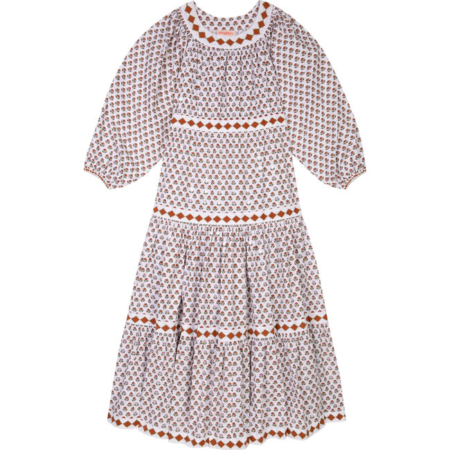 Women's The Tiered Dress, Brown Booti Flower