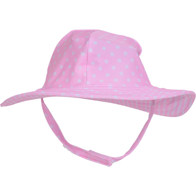 UPF 50+ Summer Splash Swim Hat, Pink Dots - Hats - 1