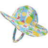 UPF 50+ Summer Splash Swim Hat, Pink Sparkle - Hats - 1 - thumbnail