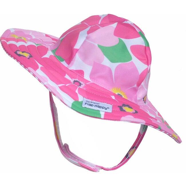 UPF 50+ Summer Splash Swim Hat, Wild Hibiscus - Hats - 1
