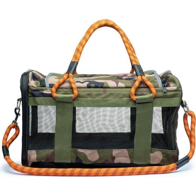 Pet Travel Bag, Camouflage and Orange