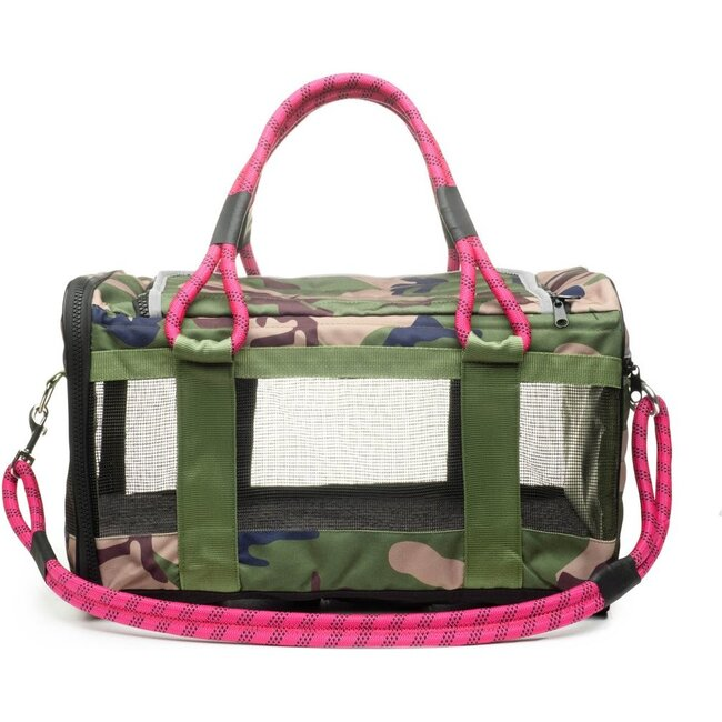 Pet Travel Bag, Camouflage and Magenta