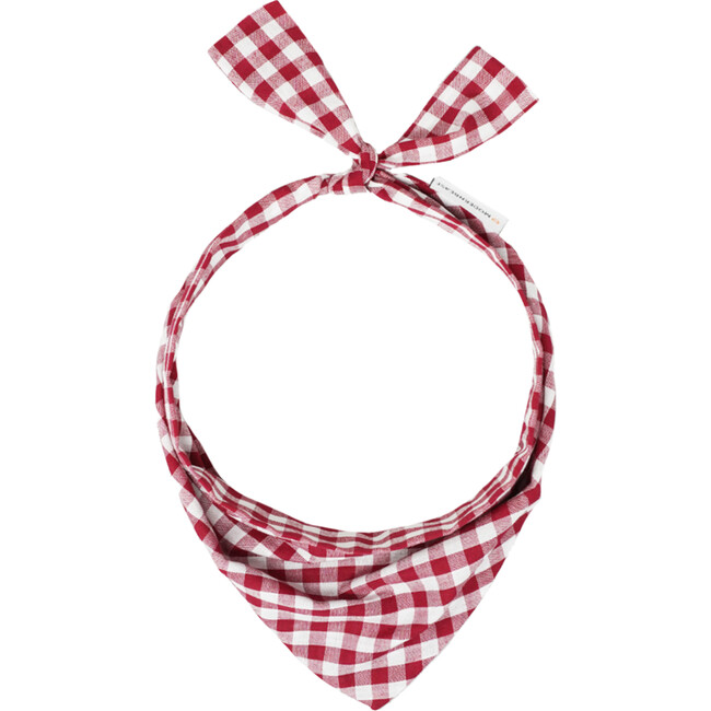 Neckwear, Berry Gingham - Dog Bandanas & Neckties - 1
