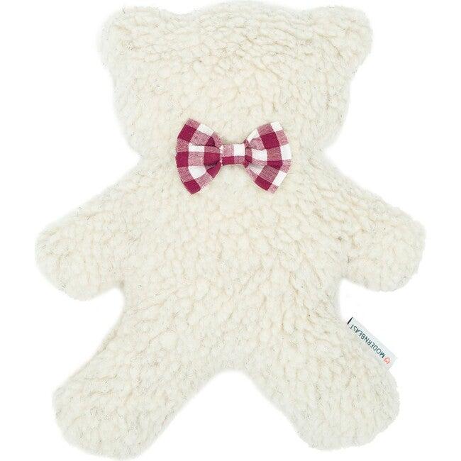 Cream Lavender Bedtime Bear, Berry Gingham