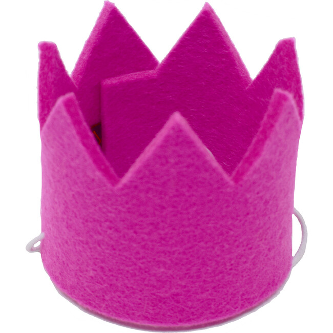 Party Beast Crown, Pink - Pet Costumes - 1
