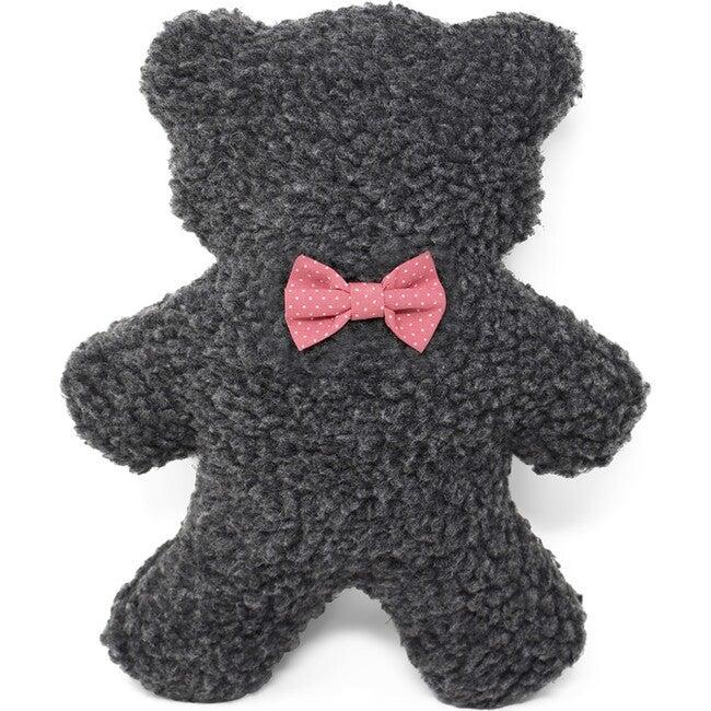 Charcoal Lavender Bedtime Bear, Pink Polkadot