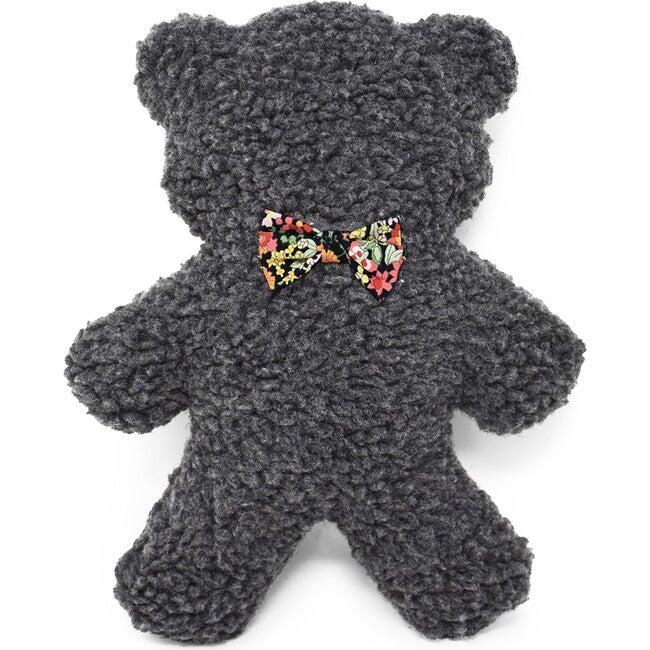 Charcoal Lavender Bedtime Bear, Black Floral