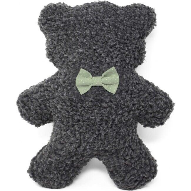 Charcoal Lavender Bedtime Bear, Mint Polkadot