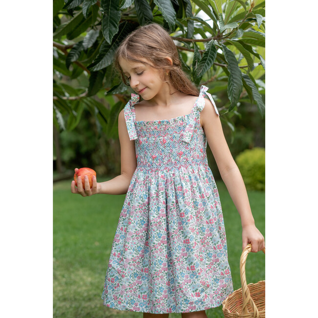 Gloria Dress, Baby Blue & Pink