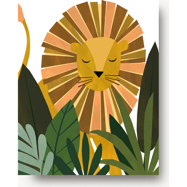 Liam the Lion Art Print, Yellow/Olive - Art - 1