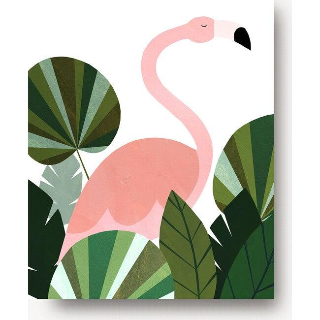 Florence the Flamingo Art Print, Pink/Green - Art - 1