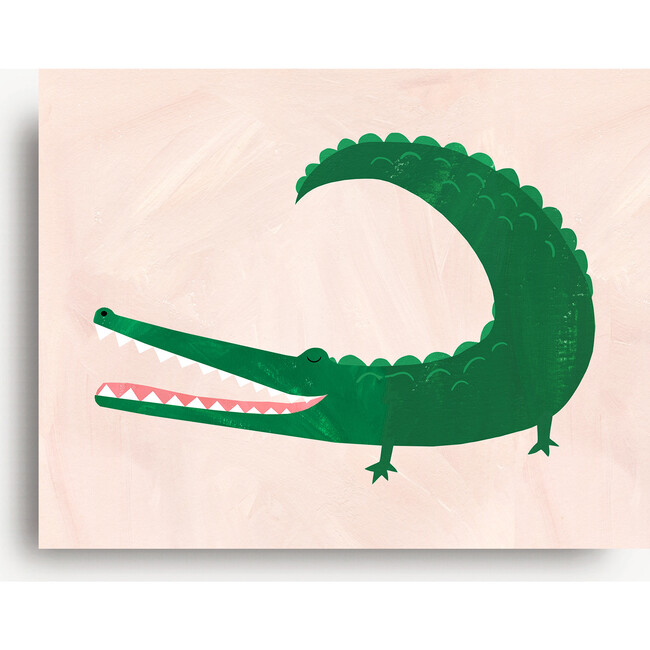 Allie the Alligator Art Print, Green - Art - 1