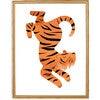 Theo the Tiger Art Print, Orange - Art - 3