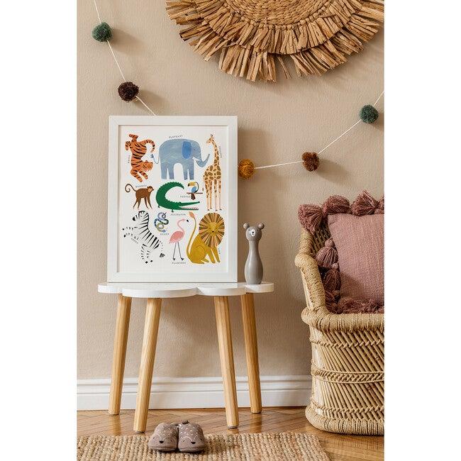 Animal Chart Art Print, Multi