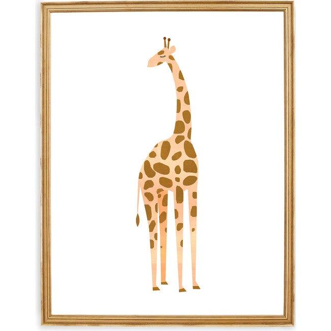 Gerry the Giraffe Art Print, Yellow