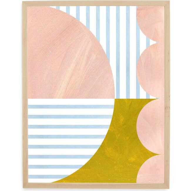 Scallops Art Print, Rose/Gold
