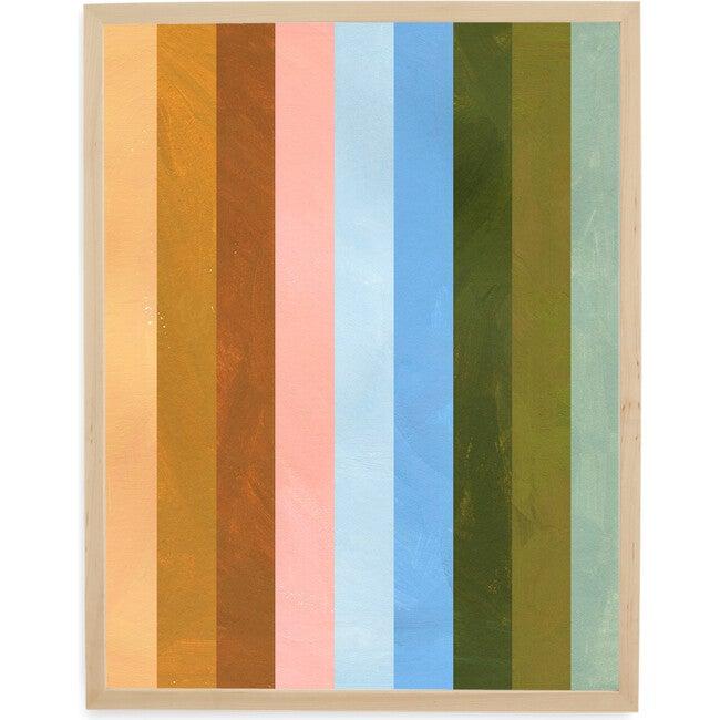 Sunset Stripe Art Print, Multi