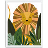 Liam the Lion Art Print, Yellow/Olive - Art - 4