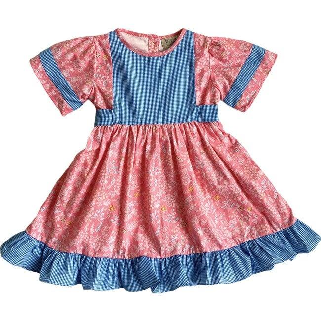 Tabitha Dress, Pink & Aqua