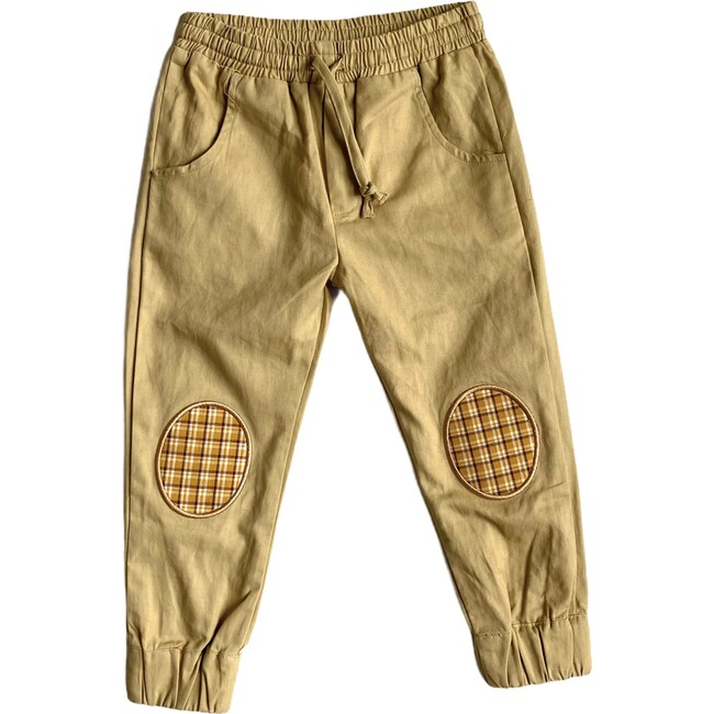 Patch Joggers, Mustard