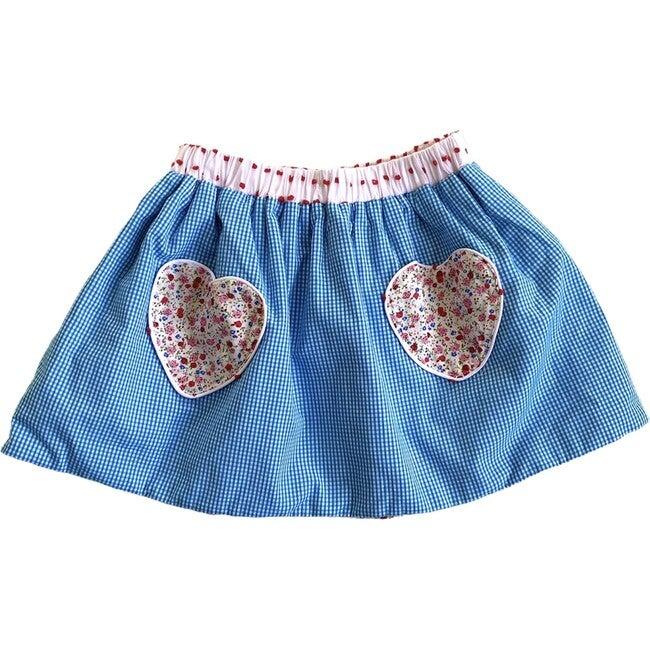 Cariad Skirt, Red & Aqua
