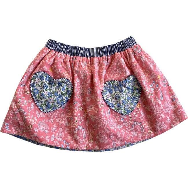 Cariad Skirt, Pink & Blue