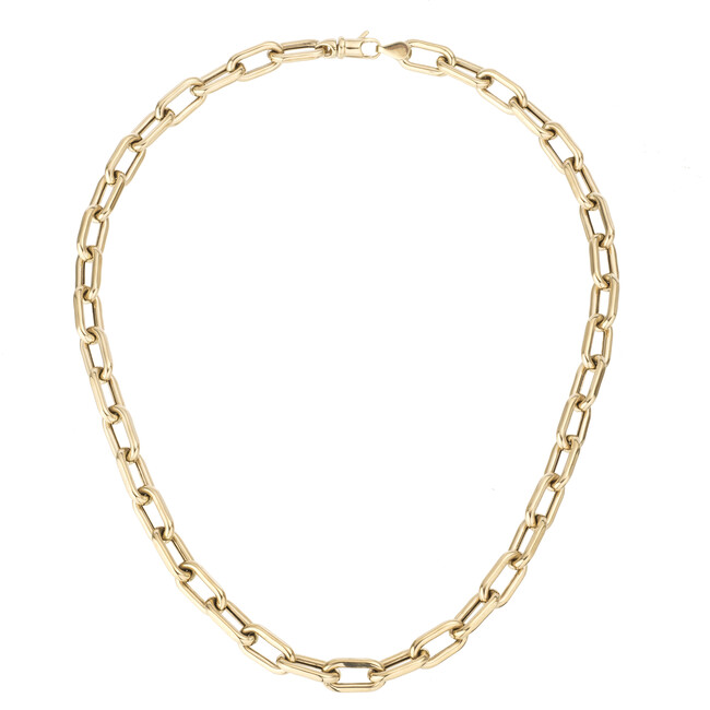 """7mm wide 16"""" Italian Chain Link Necklace"""