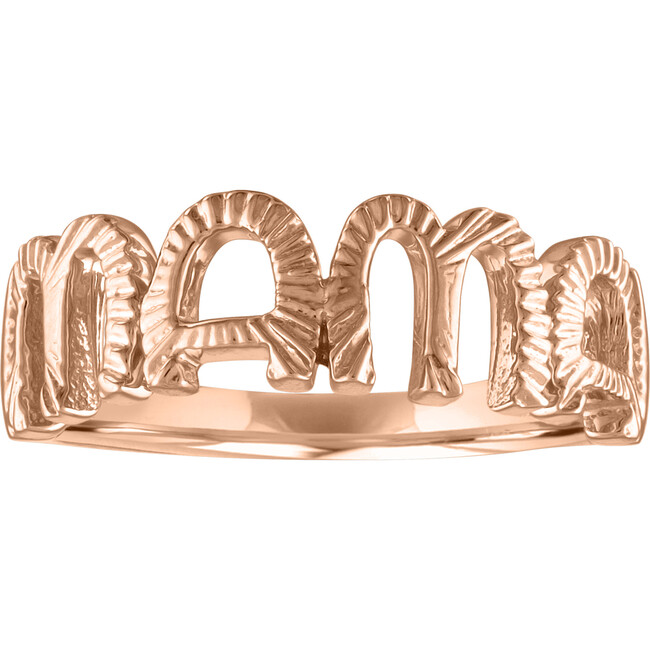 Women's Veda 14K Rose Gold Mama Ring