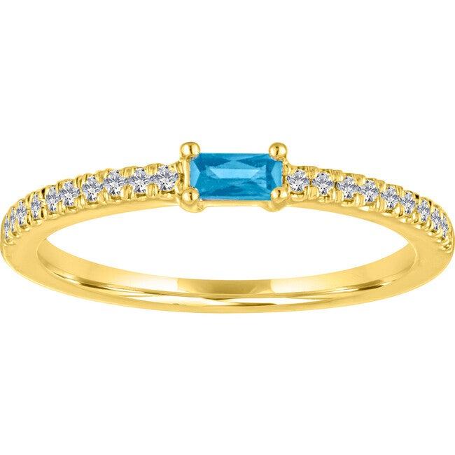 Women's Julia 14K Gold Blue Topaz Ring