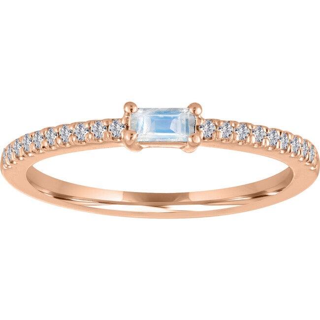 Women's Julia 14K Rose Gold Moonstone Ring
