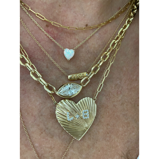 Women's Monogrammable Love 14k Gold Pendant