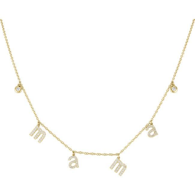 Women's Sammy 14k Gold Mama Necklace