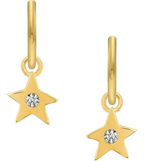 Women's Diamond Star Charm Earrings
