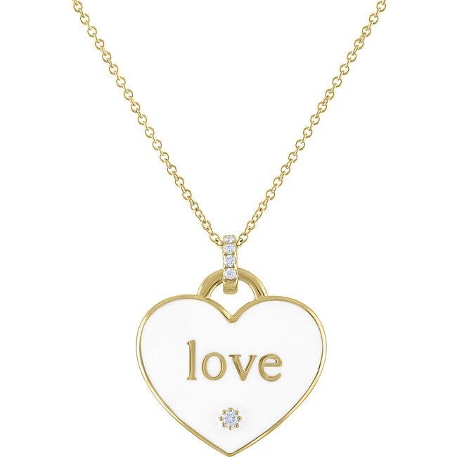Women's Jasmine 14k Gold & Diamond Love Pendant
