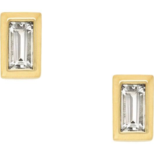 Women's Diamond Baguette Stud Earrings - Earrings - 1