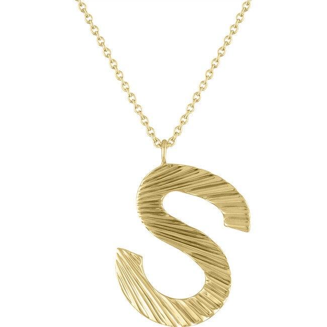 Women's Celeste 14k Gold Mini Letter Pendant