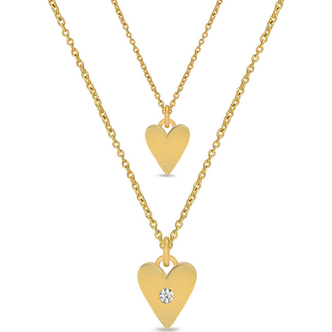 *Exclusive* Mommy + Me Hearts Necklace Set - Necklaces - 1