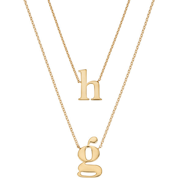 *Exclusive* Mommy + Me 14k Gold Initial Necklace Set