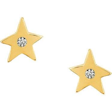 Mini Diamond Star Stud Earrings
