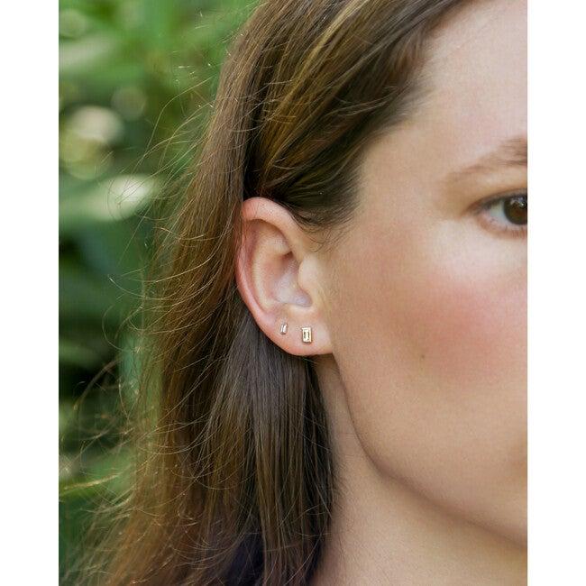 Mini Diamond Baguette Stud Earrings