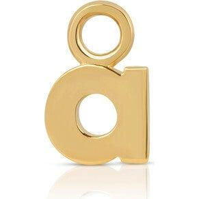 Women's Gold Initial Earring Charm