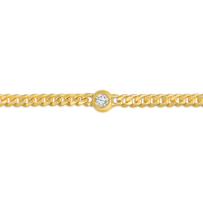 Women's Diamond Curb Chain Bracelet