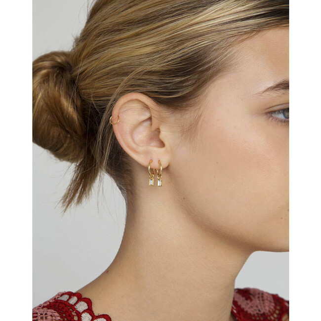 Women's Diamond Baguette Earring Charm