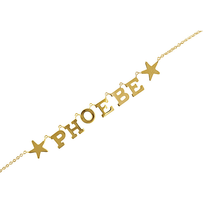 Name Necklace with Stars