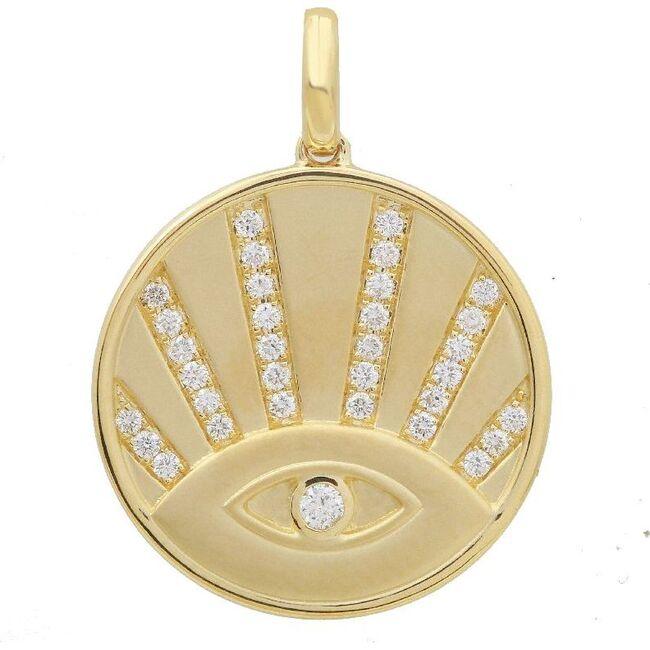 Evil Eye Charm, 14K Gold