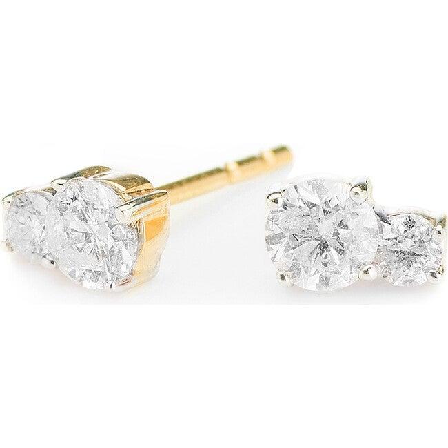 2 Diamond Amigos Post Earrings