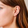 Pave Huggie Hoops - Earrings - 2