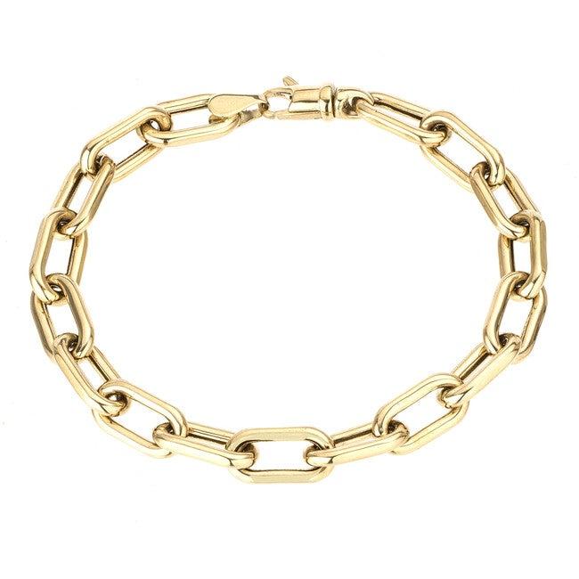 7mm wide Italian Chain Link Bracelet