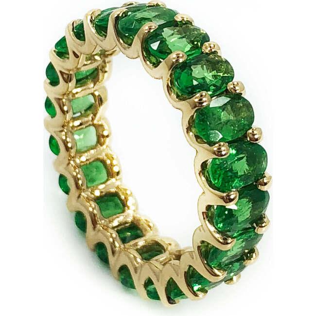 Tsavorite Garnet Eternity Ring