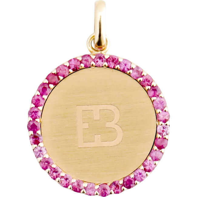 Pendant Pink Sapphire Medal 18kt solid gold